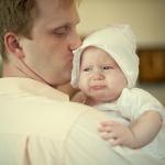 девочка и папа на фотосъемке крещения