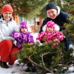 семейная фотография зимой
