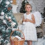 детская фотография девочка ангел совместно с www.kovtundesign.ru
