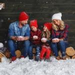 детская фотография со снегом совместно с www.kovtundesign.ru