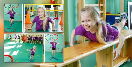 Фотографии девочки на физкультуре
