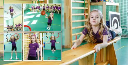 Прыжки, обручи и баскетбол в детском саду