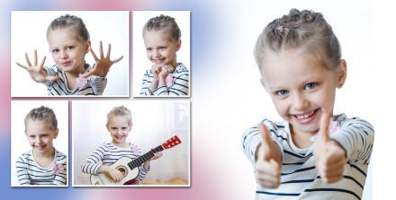 Веселая девочка из детского сада