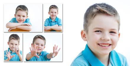 Веселые портреты выпускная фотокнига для мальчика