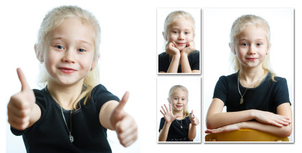 Портретный разворот для выпускного фотоальбома