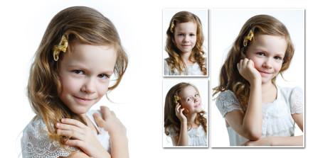 Портреты в выпускном альбоме девочки